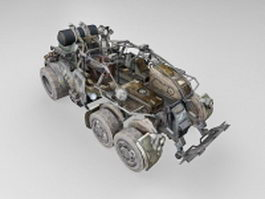 Sci-Fi fighting vehicle concept 3d model preview