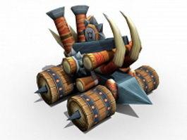 Medieval fantasy catapult 3d model preview