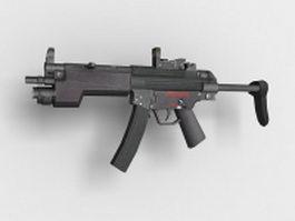 Heckler & Koch MP5 submachine gun 3d model preview