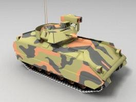 M2A2 light tank 3d model preview