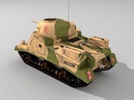 Medium Tank M3 3d model preview
