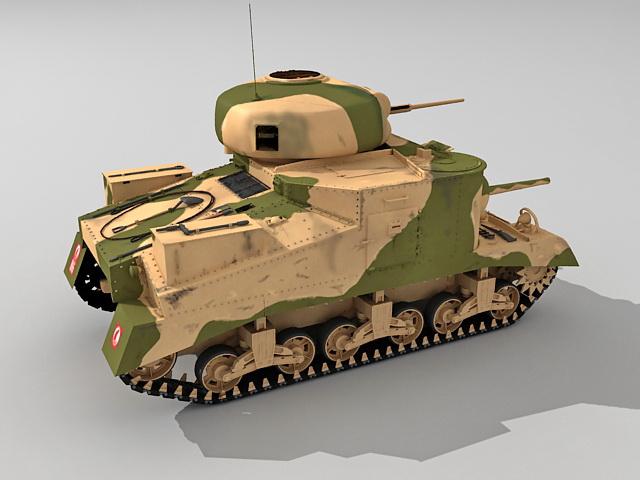 Medium Tank M3 3d rendering