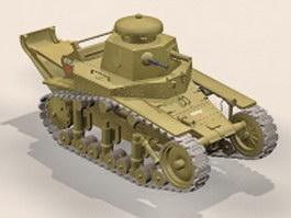WW2 T-18 light tank 3d model preview