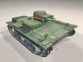 Soviet T-38 light tank 3d model preview