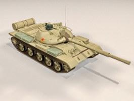 Russian T-62 main battle tank 3d model preview