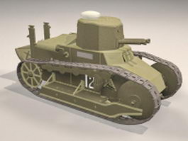 Fiat 3000 light tank 3d preview