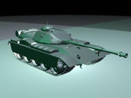 American battle tank 3d model preview