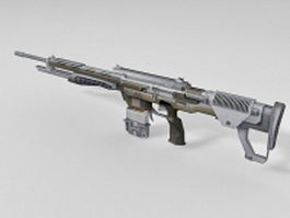Sniper rifle 3d preview