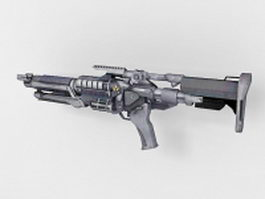 Sci-Fi weapon concept 3d preview
