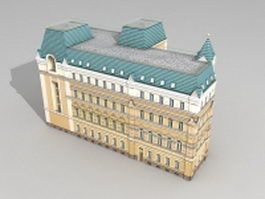 Moscow Russia Mansion 3d preview