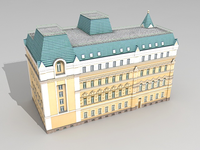 Moscow Russia Mansion 3d rendering