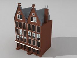 Gothic Victorian style houses 3d preview