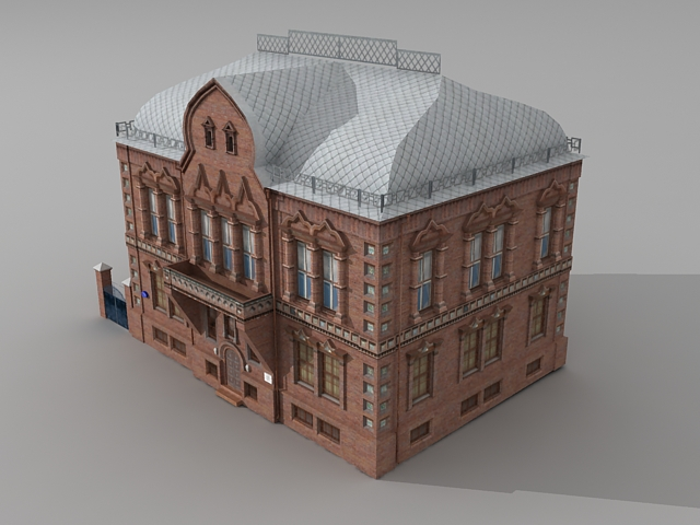 Traditional Russian mansion 3d rendering