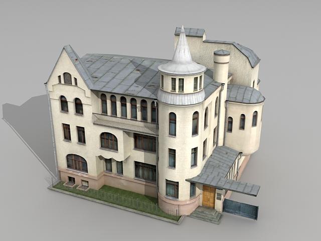 Soviet Russian Mansion 3d rendering