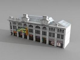 Nikolskaya street building 3d model preview