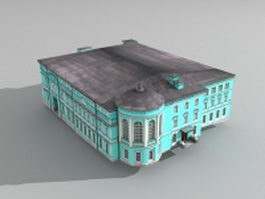 Old Russian Mansion 3d preview
