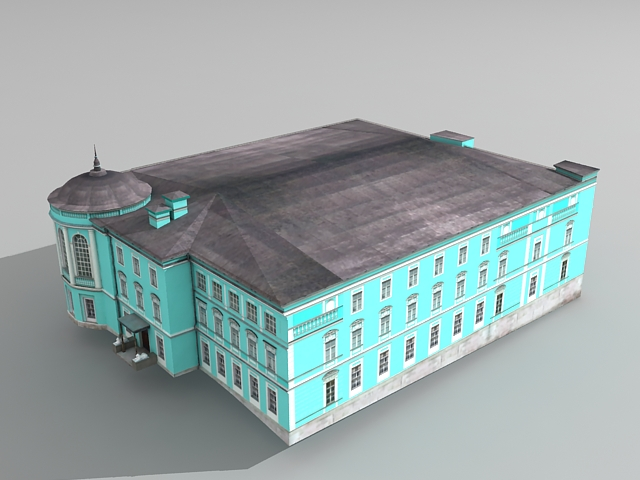 Old Russian Mansion 3d rendering