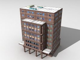 Old apartment block 3d model preview