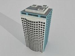 Office building block 3d model preview
