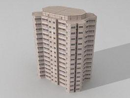 Block modern office 3d model preview