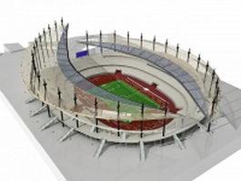 Modern football stadium 3d preview