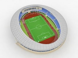 Soccer stadium 3d preview