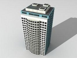 City office building 3d model preview