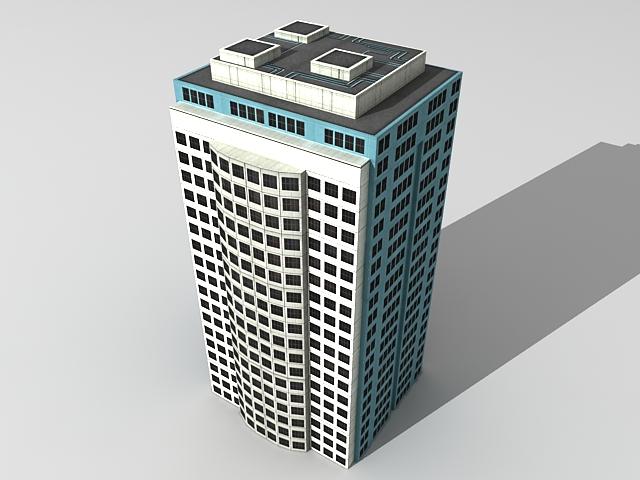 City office building 3d rendering