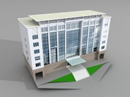 Corporate office building 3d preview