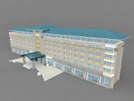 Guest house inn 3d model preview
