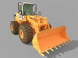 Wheel loader equipment 3d preview