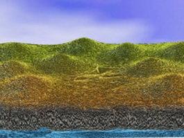 Hills cliffs terrain 3d preview