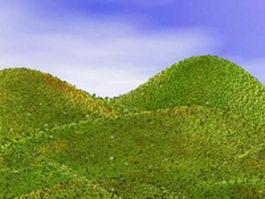 Landforms hills mountains 3d preview