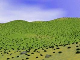 Grass hills 3d preview