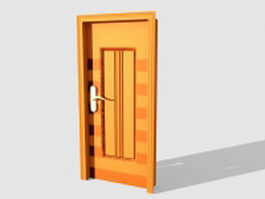 Interior wooden door 3d preview
