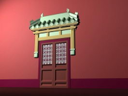 Ancient Chinese door 3d preview