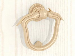 Antique brass door knocker 3d preview