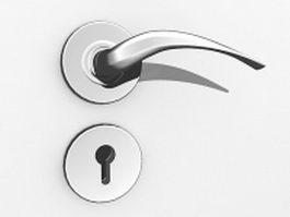 Lever door handle and lock 3d preview