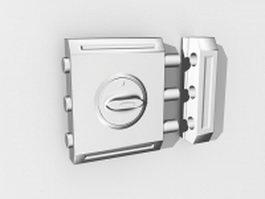 Security door lock 3d preview