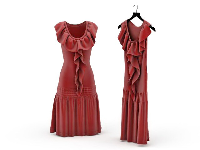 Party frock 3d rendering