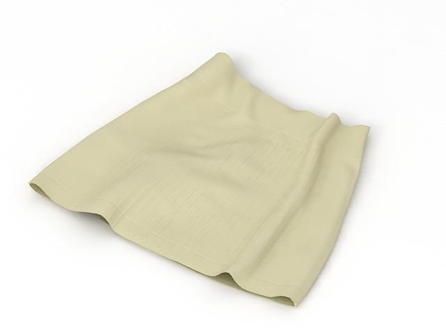 A Line Mini Skirt 3d rendering