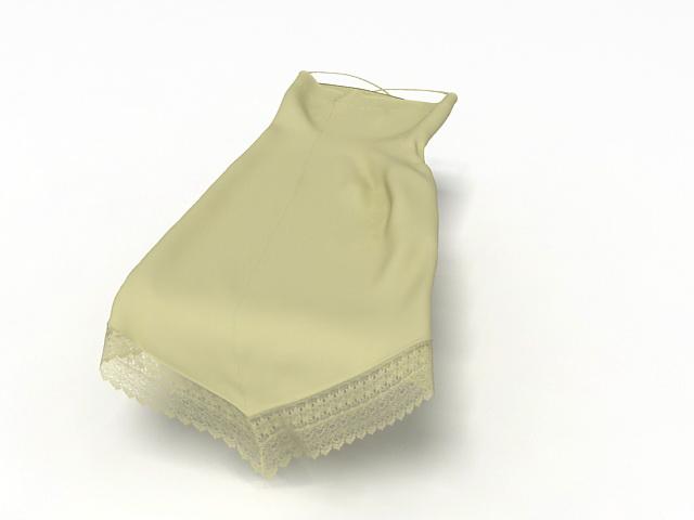 Lace slip dress 3d rendering
