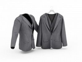 Grey suits 3d preview