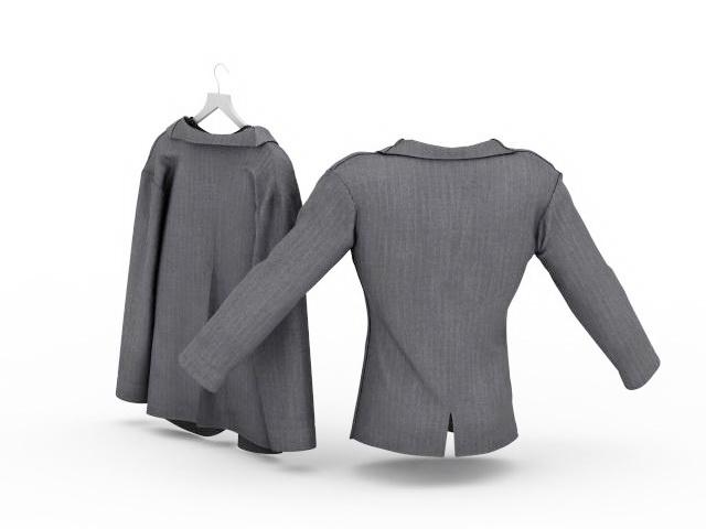 Grey suits 3d rendering