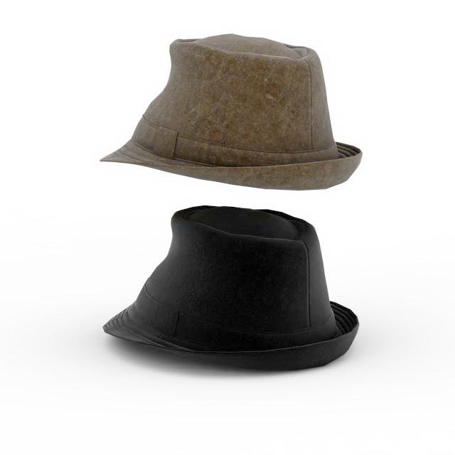 Indiana Jones hat 3d rendering