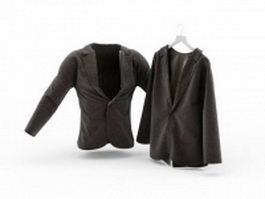 Casual suit 3d model preview