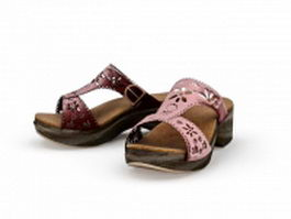 Platform sandals 3d preview