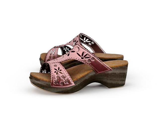 Platform sandals 3d rendering