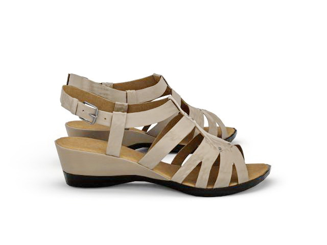 Strappy wedge sandals 3d rendering