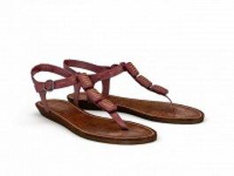 Flip Flop Sandals 3d preview